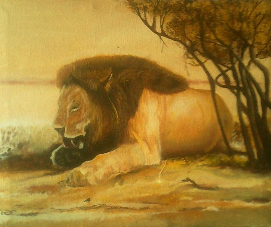 Lion Painting African Art